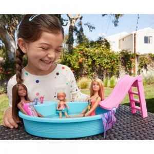 Barbie Νέα εξωτική πισίνα με κούκλα (GHL91)