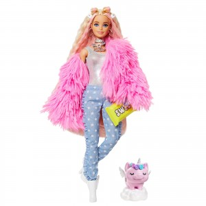 Barbie Extra Fluffy Pink Jacket (GRN28)