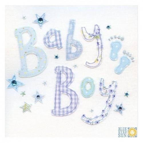 """Κάρτα Ευχετήρια """"Baby Boy"""" 16x16 εκ. (X01)"""