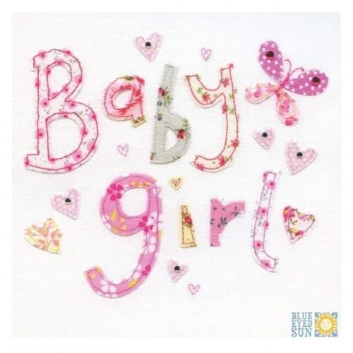 """Κάρτα Ευχετήρια """"Baby Girl"""" 16x16 εκ. (X03)"""