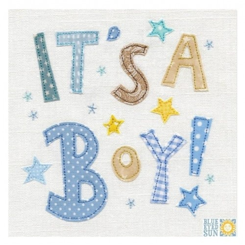 """Κάρτα Ευχετήρια """"It's A Boy!"""" 16x16 εκ. (X107)"""