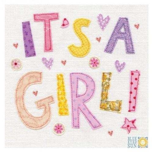 """Κάρτα Ευχετήρια """"It's A Girl!"""" 16x16 εκ. (X108)"""