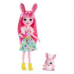 Enchantimals Κούκλα και Ζωάκι Φιλαράκι Bree Bunny & Twist (FXM73/DVH87)