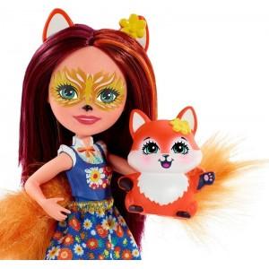 Enchantimals Κούκλα και Ζωάκι Φιλαράκι Felicity Fox & Flick (FXM71/DVH87)