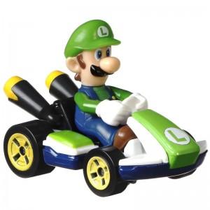 Hot Wheels Αυτοκινητάκια Mario Kart Luigi (GLP37/GBG25)