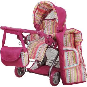 Καρότσι Kyra Pink Stripes (61838)