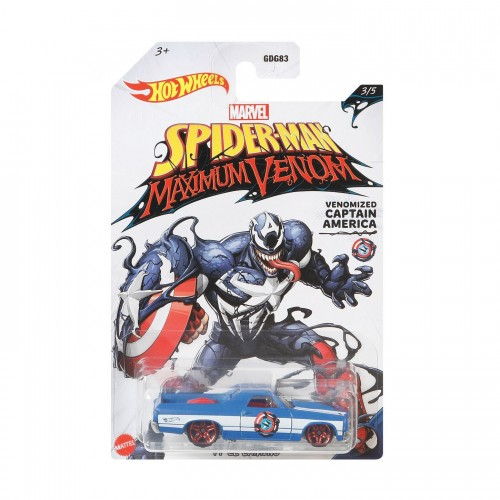 Hot Wheels Marvel Spiderman Venomized Captain America (GJV26/GDG83)