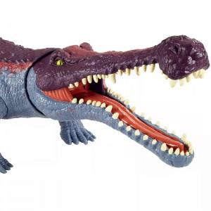 Jurassic World Δεινόσαυροι Με Κινούμενα Μέλη Και Λειτουργία Επίθεσης Sarcosuchus (GVG68/GJP32)