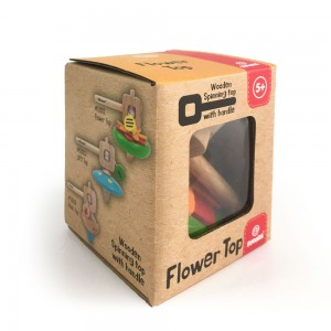 Svoora Σβούρα Ξύλινη με λαβή Λουλούδι (13101)