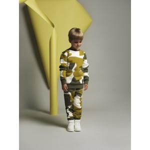 Μπλούζα Φούτερ Golden Lime & Khaki Allover (42171310058)