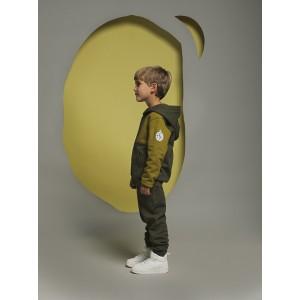 Ζακέτα Φούτερ με Κουκούλα Khaki & Golden Lime (42171317006)