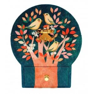 Μπιζουτιέρα Μουσική Πουλιά στο Δέντρο (06592)