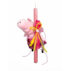 Λαμπάδα Peppa Pig 30εκ. με ριγέ φόρεμα (202101)