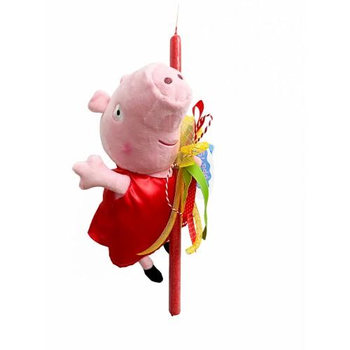 Λαμπάδα Peppa Pig με κόκκινο φόρεμα (202102)