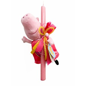Λαμπάδα Peppa Pig 30εκ. φόρεμα με καρδιές (202116)
