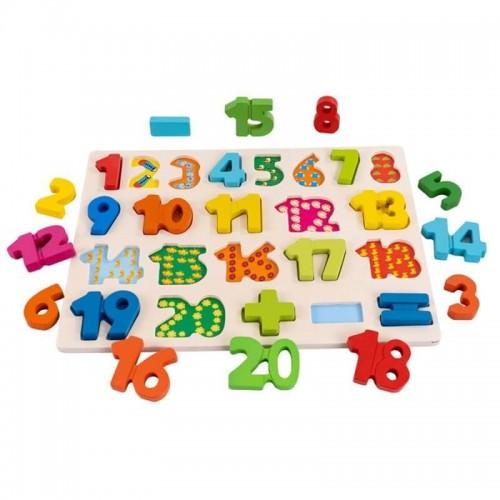 Puzzle ξύλινο με αριθμούς (SAWT18627)