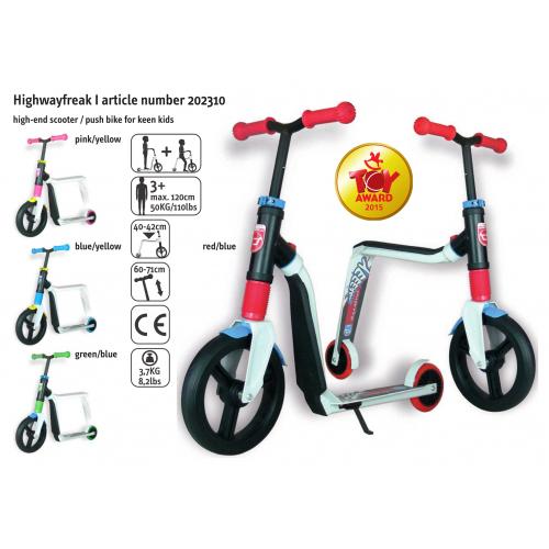 Πατίνι και ποδήλατο ισορροπίας Highwayfreak White/Red/Blue