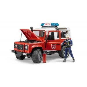 Πυροσβεστικό Land Rover station wagon με πυροσβέστη (02596)
