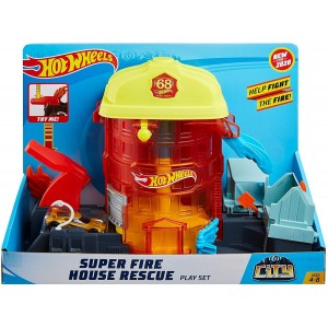 Hot Wheels Πίστες City Super Fire House Resque (GJL06/FNB15)
