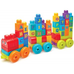 Mega Blocks Τρενάκι ABC (DXH35)