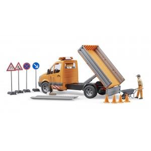 Φορτηγάκι Mercedes Έργων με Εργάτη και Αξεσουάρ (02537)