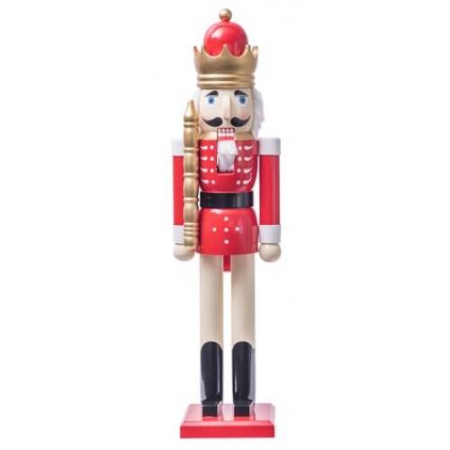 Καρυοθραύστης Δαπέδου Βασιλιάς κόκκινος 80εκ. (256501)