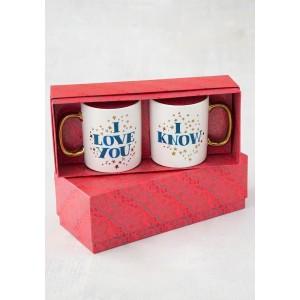 Κούπες Σετ2 I Love you - I Know (52814)