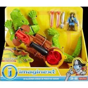 Imaginext Κροκόδειλος Τέρας & Πειρατής με Αξεσουάρ (DHH63)