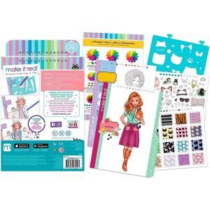 Make it Real Fashion Design Sketchbook Pretty Kitty (3204)