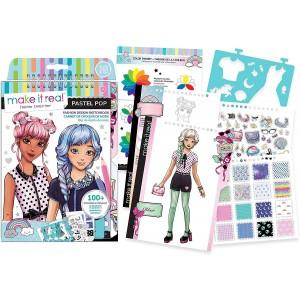 Make It Real Fashion Design Sketchbook Pastel Pop! (3205)