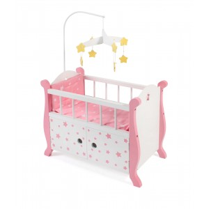 Κούνια με mobile Pink Stars (51088)