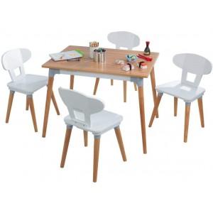 Τραπέζι και 4 καρέκλες Mid Century (26196)