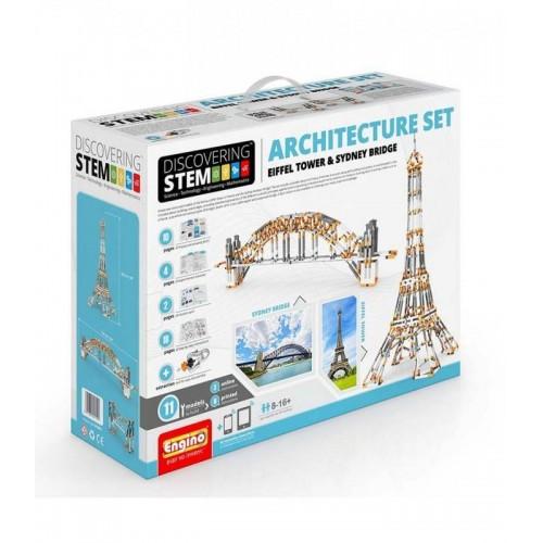Engino Stem Architecture : Eiffel Tower and Sydney bridge (STEM55)