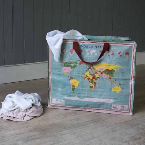 Τσάντα αποθήκευσης γίγας Παγκόσμιος Χάρτης (24486)