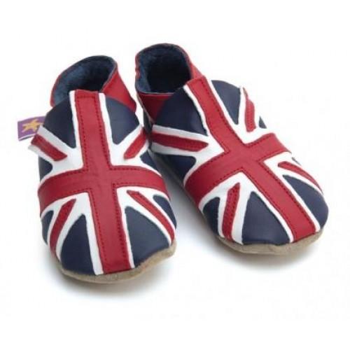 Παπουτσάκια bebe Union Jack navy