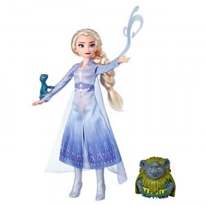 Disney Frozen II Storytelling Κούκλα Έλσα & Φιγούρες Pabbie & Salamander (E6660/E5496)