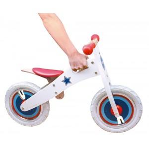 Scratch Ποδήλατο Ισορροπίας Λευκό με Αστέρια (6181435)