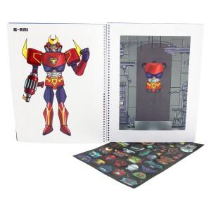 Κατασκευή με αυτοκόλλητα Robo designer book