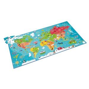 Scratch Puzzle Δαπέδου 150τεμ Παγκόσμιος Χάρτης (6181076)