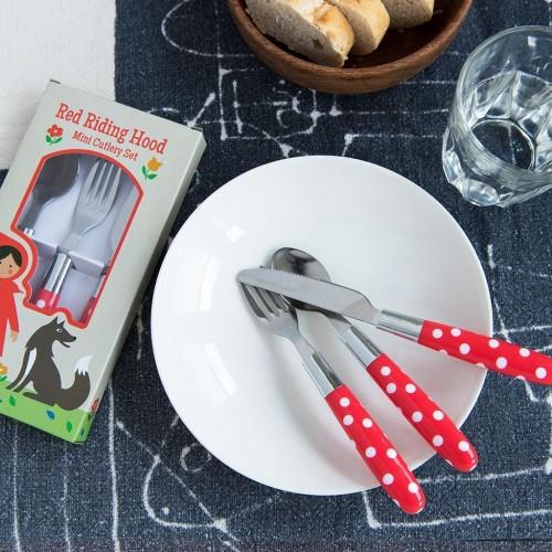 Σετ κουτάλι μαχαίρι πηρούνι Κοκκινοσκουφίτσα (26276)