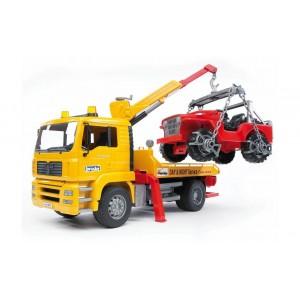 MAN TGA φορτηγό οδικής βοήθειας με γερανό και τζιπάκι (02750)
