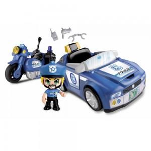 Pinypon Action Αστυνομικό Όχημα και Μηχανή και Φιγούρα (700014495)