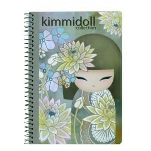 Τετράδιο σπιράλ 3θεμάτων μεγάλο Kimmidoll