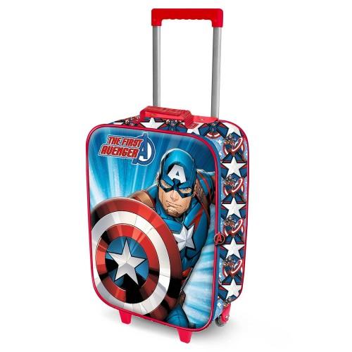 Βαλίτσα ταξιδίου Captain America 3D (00367)