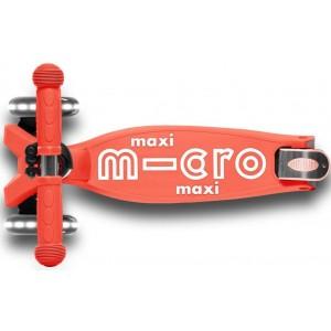 Πατίνι Maxi Micro Deluxe Foldable LED Bright Coral (MMD093)