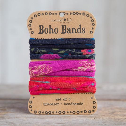 Boho Band Pink, Red and Black (34668)