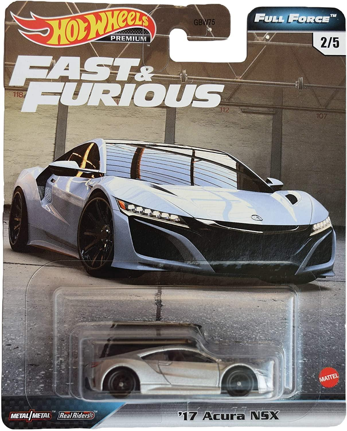Hot Wheels Full Force Real Riders Fast And Furious '17 Acura NSX 2/5 (GJR75/GBW75)