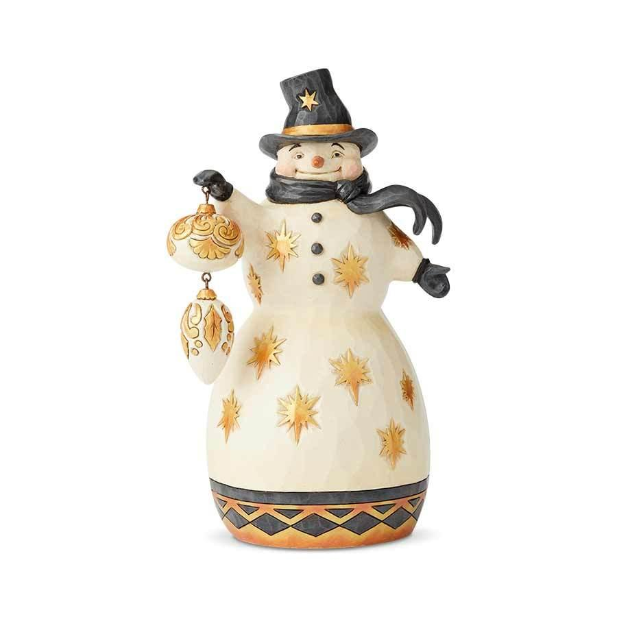 Snowman Black & Gold Be Merry, Be Bright (6004199)