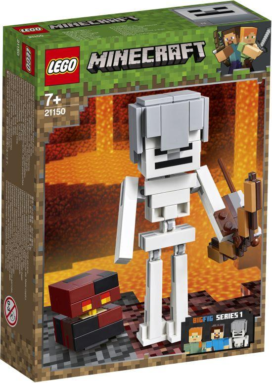 Lego Minecraft Skeleton BigFig with Magma Cube (21150)