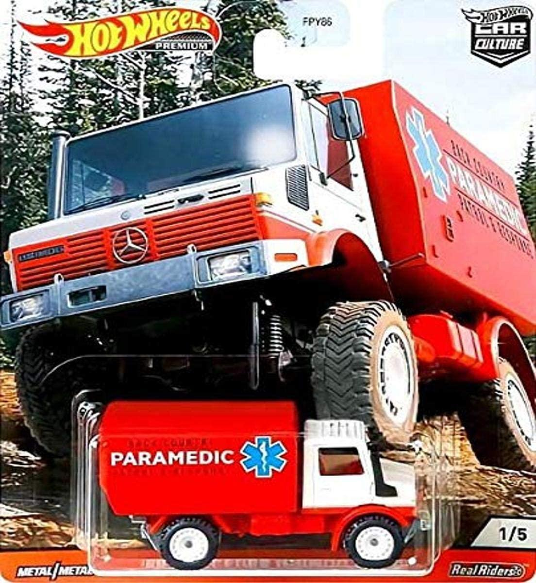 Hot Wheels Car Culture Wild Terrain Real Riders Mercedes-Benz Unimog U 1300 (1988)...